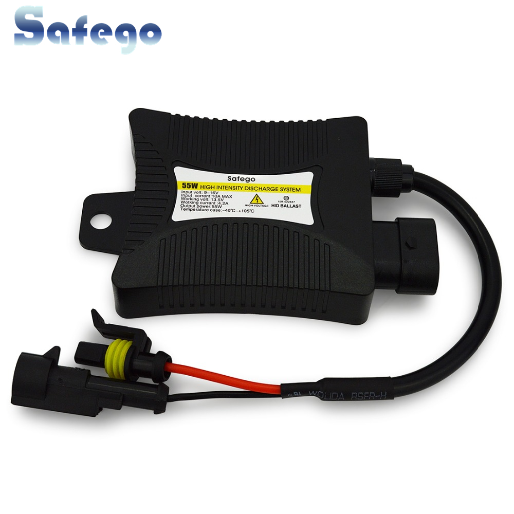 Safego 1pcs 55W Xenon HID Ballast Kit Blocks Electronic Blocks Electronic Digital Slim Ingnitor برای چراغ قوه اتومبیل H4 H7 H3 H1 H11 H 900 9006