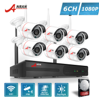 ANRAN Plug And Play P2P 8CH NVR 6PCS Outdoor 24 IR 1080P Network IP Wireless Camera