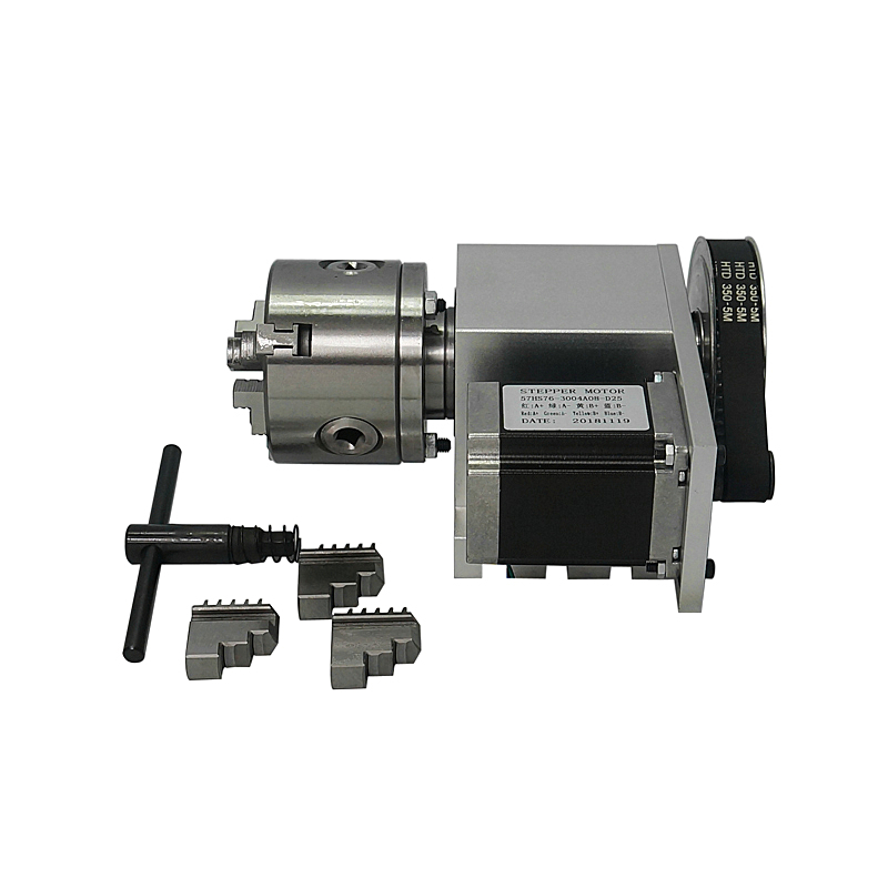 Hollow Shaft 5M 6 80 A Axis 3 Jaw 4 Jaws Chuck Rotary Axis Center height 65MM for CNC Router Engraving Machine