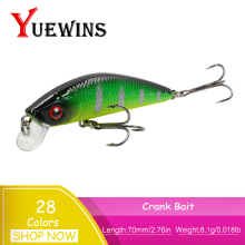 Купить с кэшбэком YUEWINS Minnow Fishing Lure 70mm 8.1g Isca Artficial Hard Bait Fish Wobbler Slow sinking Jerkbait peche Fishing Tackle TP1174