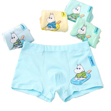 2018 New Cartoon Print Boys Panties Teenager Student Underwear Boxer Pure Cotton Underpants 5 Pcs/lot Baby Shorts 4-13year