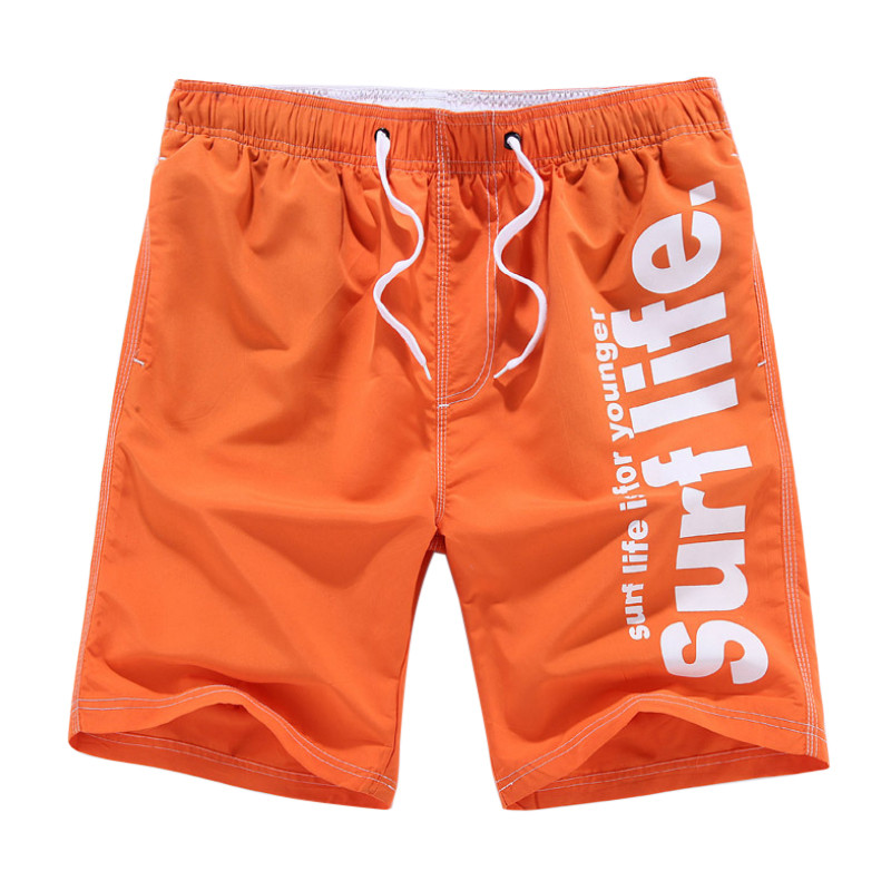 Letter Printed Hip Hop Mens Causal Board Shorts Drawstring Quick Dry Workout Male Beach Shorts Sweat Boardshorts 2018 Summer