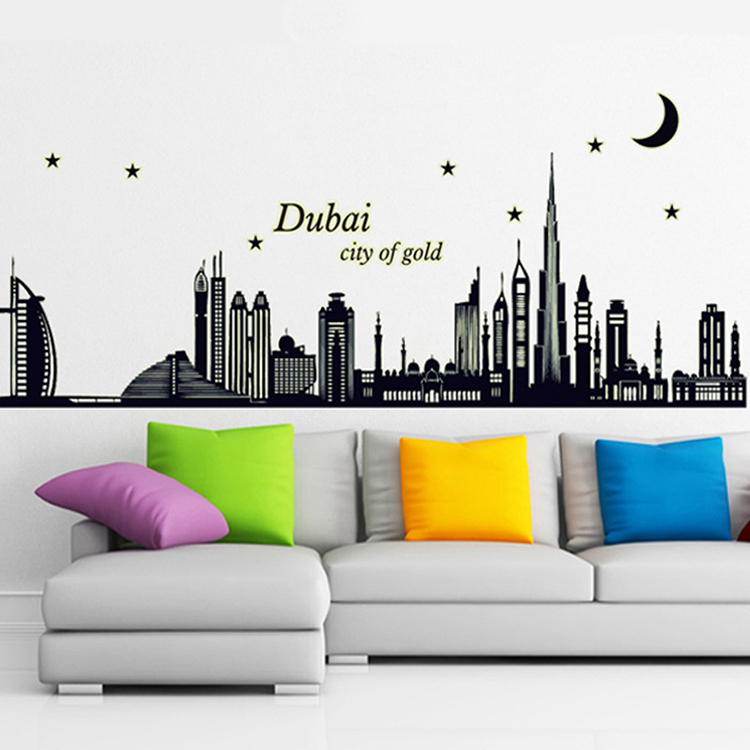 New Dubai Silhouette Large Wall