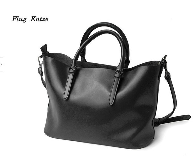 Flug katze 100% LUXURY Genuine Leather Women Shoulder Bag Brand Designer Cowhide genuine leather handbags Skin Crossbody bag