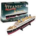 T0423 3D Puzzles Titanic nave Modelo de Papel de DIY niños regalos Creativos de Los Niños juguetes Educativos versión Ordinaria