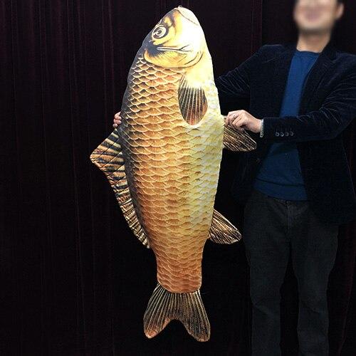 Apparaissant poisson-grand (130 cm) tours de magie vide sac apparaissant poisson Magica magicien scène rue Illusions Gimmick Fun FISM nouveau
