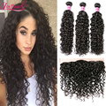 7A Unprocessed Virgin Human Hair Malaysian Water Wave Lace Frontal Closure 13x4 Ear to Ear Lace Frontal Closure With Baby Hair