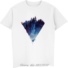 77b2a83fa3fd Fashion Iceberg Print T Shirt Men Mountain Design T-Shirt Casual Cool Mens  Shirts Short