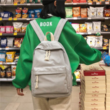 Waterproof Canvas Backpack Female School Bag For Teenage Girls Travel Backpacks Women Bookbag Mochilas For College Student