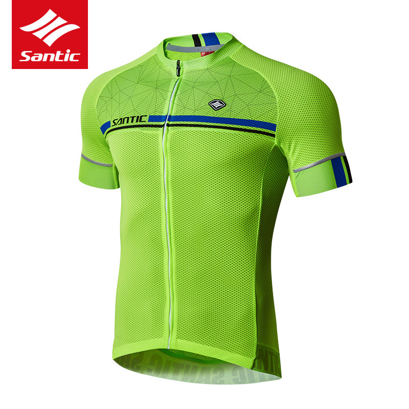 Santic Cycling Jersey 2018 Pro Team Mens MTB Road Bike Jersey Short Sleeve Breathable Cozy Bicycle DH Jersey Cycling Clothing santic cycling clothing women short sleeve breathable cycling jersey sets padded road mountain bike shorts 2018 bicycle clothes