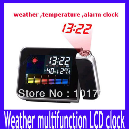 indoor thermometer Digital LCD Weather Station Temperature Projection Alarm Clock Desktop Wireless Multi-function
