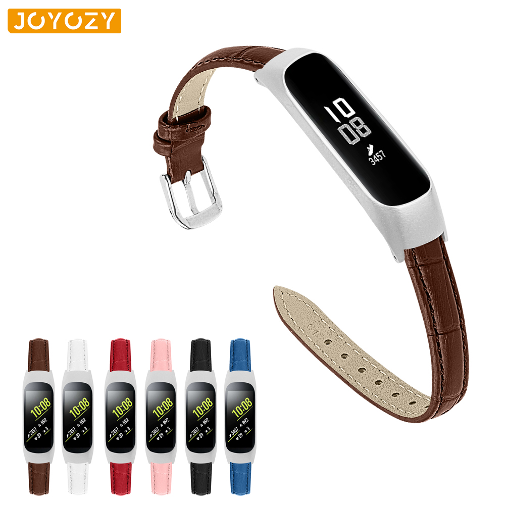 Joyozy New Leather Strap Crocodile Strap For Samsung Galaxy Watch Strap Suitable For Fit E/SM R375 Strap For Samsung Fit E Band