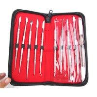 1 Set Dental Lab Apparatuur Wax Carving Gereedschap Set Chirurgische Tandarts Sculptuur Mes Instrumenten Tool Kit