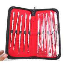 1 Set Dental Lab Equipment Wax Carving Tools Set Surgical Dentist Sculpture Knife Instruments Tool Kit