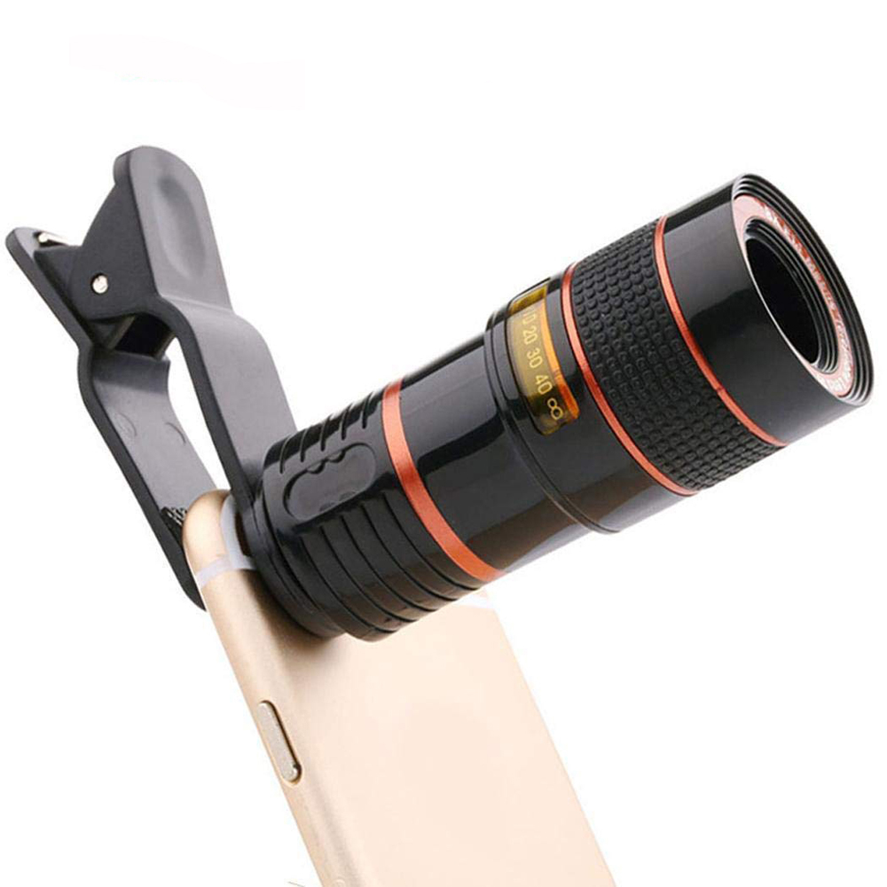 Image 3 - Universal 8X Optical Phone Camera Lens Telescope Monocular Wide angle for iPhone Huawei Samsung with free smartphone holder-in Monocular/Binoculars from Sports & Entertainment