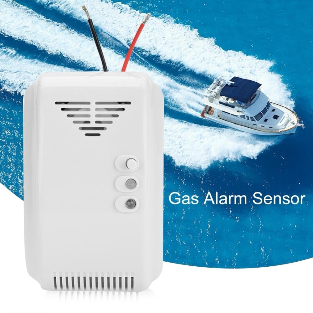 Combustible Gas Leak Alarm Sensor Propane Butane LPG Natural Motor Home Safety Device 12V mq 5 new combustible gas propane butane lpg lng detector sensor module for arduino