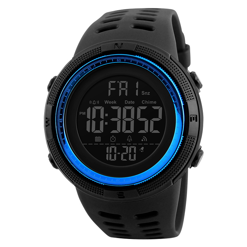 Skmei Luxury Brand Mens Sports Watches Dive 50m Digital LED Military Watch Men Fashion Casual Electronics Wristwatches Relojes 9