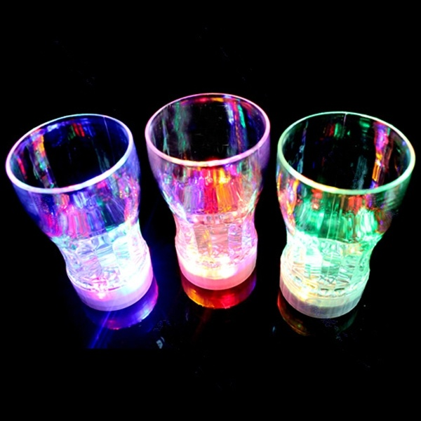 Creative Colorful LED Beer Cup Flash Lights Drink Glass Bar KTV Night Club Decative Lamp