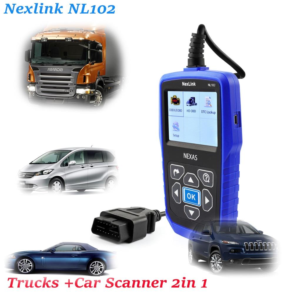 Цена за Лучший Heavy Duty Truck автомобильный диагностический сканер Nexlink NL102 дизельным двигателем Инструменты диагностики outil диагностики авто для SCANI