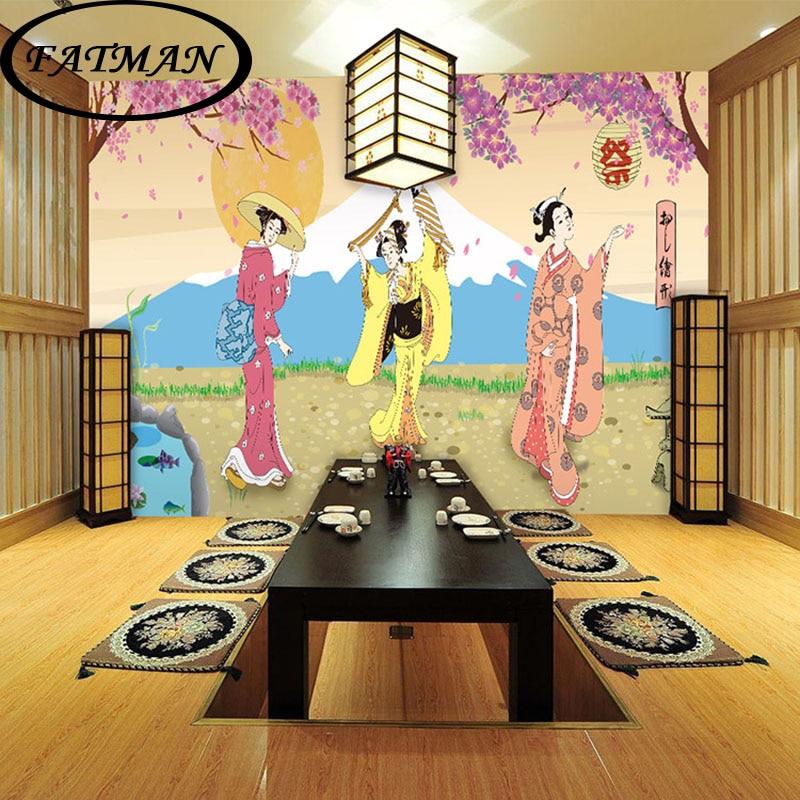 Individuelle Fototapeten 3D Japanischen Stil Wandhintergrnde Fr Wohnzimmer Schlafzimmer Tapeten Wandbild Papel De ParedeChina