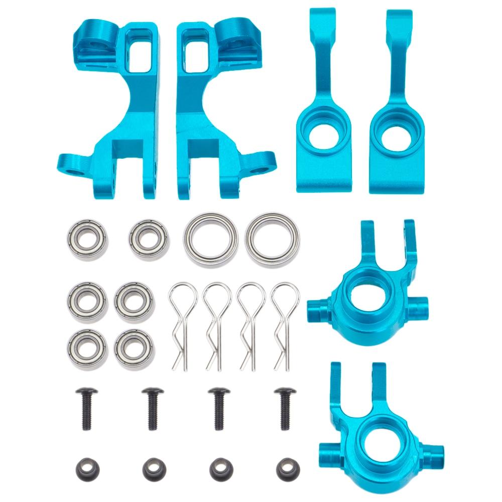 Blocs d'essieu de direction en aluminium roulettes moyeux en C support d'essieu de remplacement de 6837 6832 1952 pour 1/10 Traxxas Slash 4x4