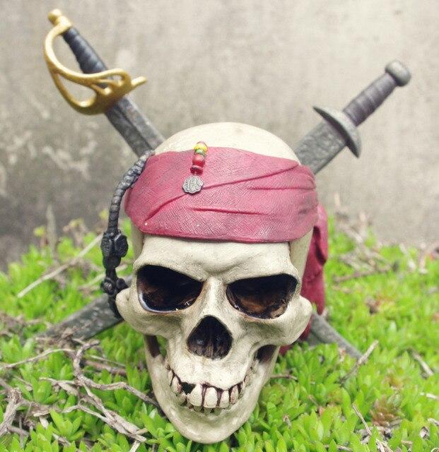 Fluch der Karibik Jack Sparrow Schädel 15 CM PVC Action Figure ...