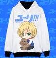 YURI!!! on ICE Yuri Victor Katsuki Yuri Men Women Jacket Coat Hoodies Sweatshirt Casual Anime Cosplay