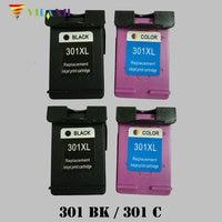 Vilaxh 301 xl Compatible Ink Cartridge Replacement for HP 301xl For Deskjet 1050 2050 3050 Envy 4500 4502 4504 5530 5532 Printer