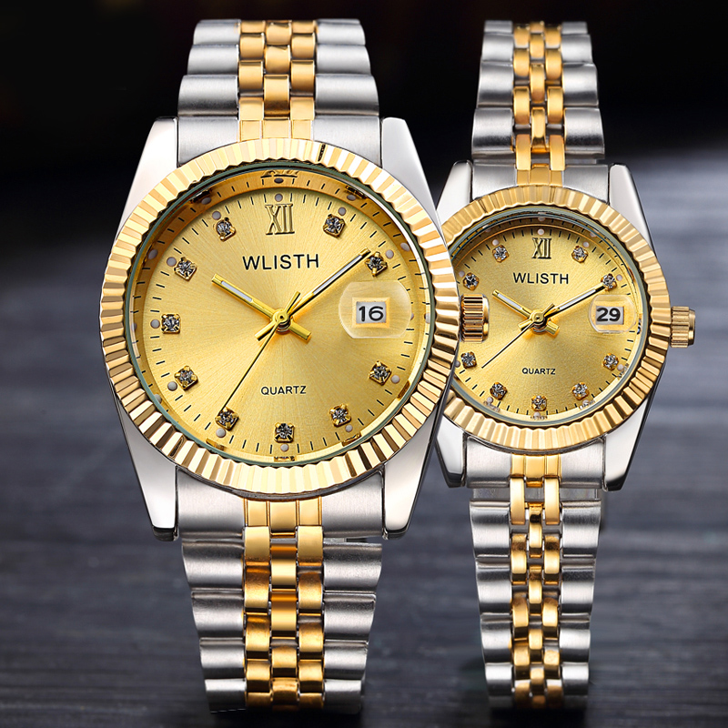 Luxury Brand Rolexable Couple Watches Fashion Ladies Waterproof Quartz Watch Business Men's Student Wristwatch Relogio Masculino