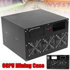 6GPU Open Air Coin Minner Mining Frame Rig Graphics Case+ 3 Fans ETH Ethereum