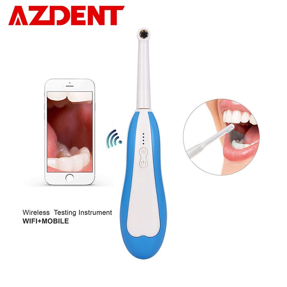 Caméra intra-orale WiFi Mini caméra orale sans fil HD pour téléphone et ordinateur 6 lumière LED câble USB Inspection maison famille outil dentaire