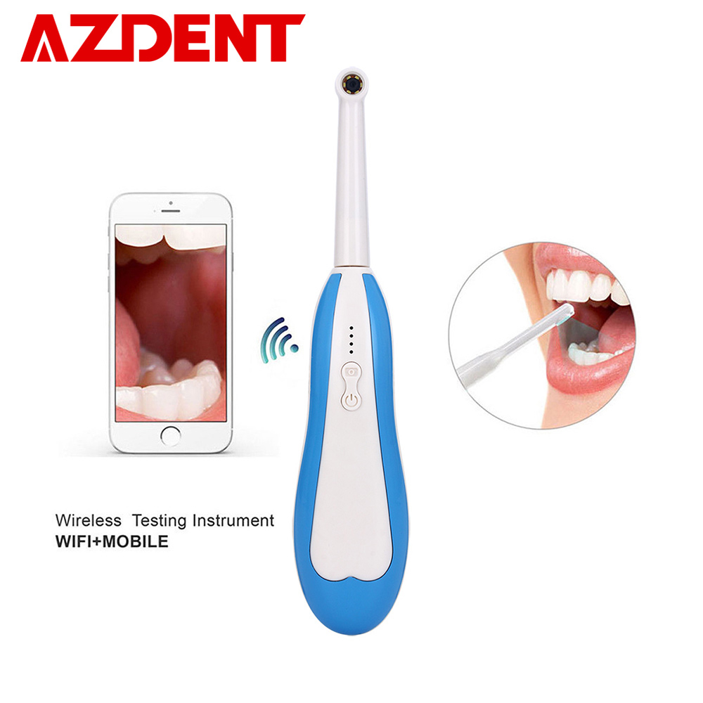 WiFi Intraoral Camera HD Mini Wireless Oral Camera For Phone & Computer 6 LED Light USB Cable Inspection Home Family Dental Tool image