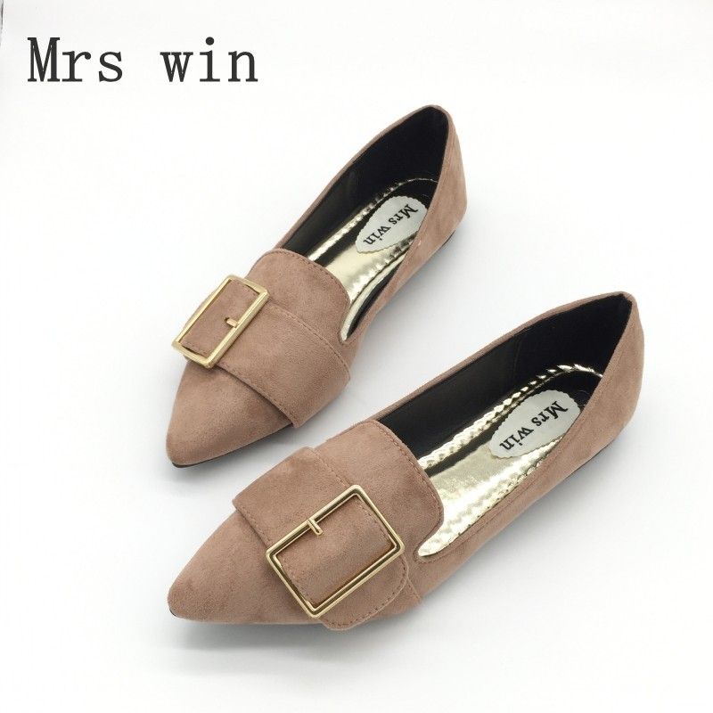 Brand Women Ballet Flats Shoes Fashion Buckle Strap for Woman Casual Single Shoes Lady Soft Work Draving Footwear Zapatos Mujer vintage women flats old beijing mary jane casual flower embroidered cloth soft canvas dance ballet shoes woman zapatos de mujer