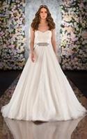 Lace Wedding Dress Fashion A Line Sweetheart Belt Pleated Ivory Robes Wedding Dress Large Size White Bride Wedding Dress