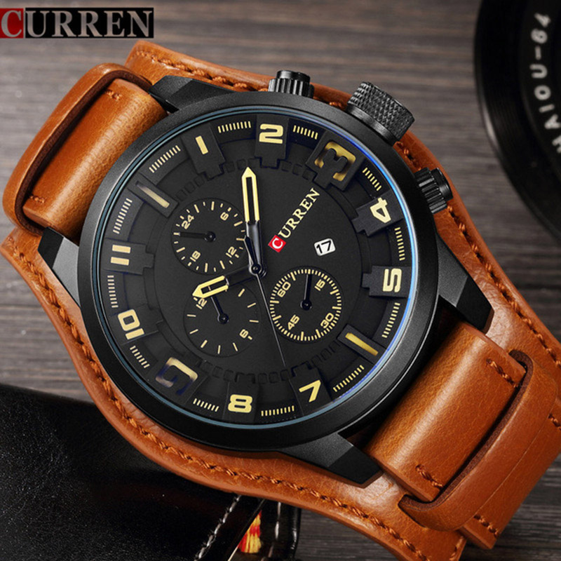 CURREN Creative Watches Men Luxury Brand Sports Military Quartz Mens Watch Male Clock Men Wrist Watch Man Relogio Masculino Drop curren mens watches top brand luxury relogio masculino big dial men quartz military wrist watch men clock men s watch 8176