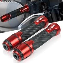 2019 NEW LOGO N-MAX 7/8 22MM CNC Motorcycle handle grips racing handlebar grip For YAMAHA NMAX 155 2015 2016 2017