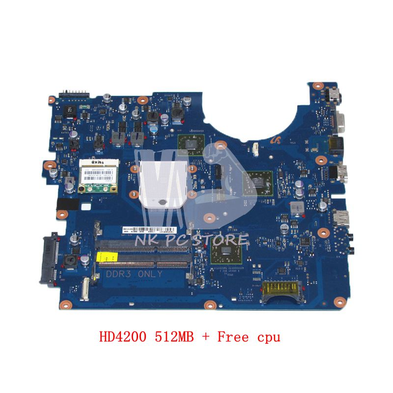 NOKOTION For Samsung R525 NP-R525 Laptop Motherboard HD4200 512MB DDR3 Free cpu BA92-06827A BA92-06827B BA41-01359A nokotion laptop motherboard ba41 01181a for samsung r425 mainboard ba92 06034a ba92 06034b hd5145 512mb ddr2 tested