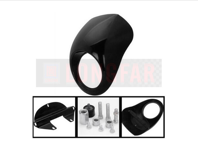 FREE SHIPPING : Cafe racer fairing Cafe Racer Headlight  fairing Retro for harley 883  XL1200 modified hood Vintage Motorcycle