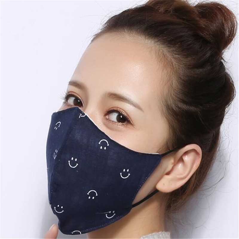 10pcs/Bags Korean Autumn And Winter New Men And Women Mask Three-dimensional Cotton Riding Windproof Warm Mask Topeng Mulut