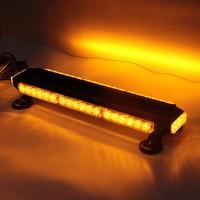 Universal Flexible 42LED Flash Lamp for warning Four sided Strobe Signal Light 12V Strobe Light for most car Amber color