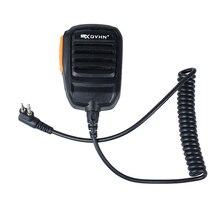 2-Pin Handheld PTT Speaker Microphone Mic with 3.5 mm headphone jack for Motorola Radios Walkie Talkie