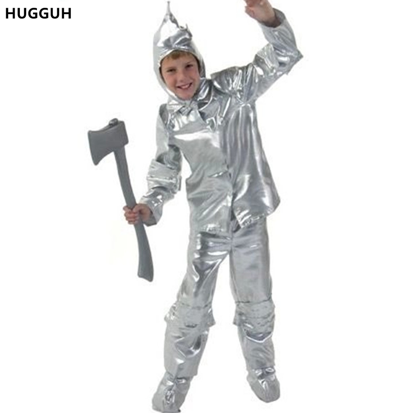 HUGGUH Brand New Halloween Tin Man Costume Boys Clothing The Wizard of Oz Tin Man Cosplay Costume Children Clothes H166292-in Boys Costumes from ...