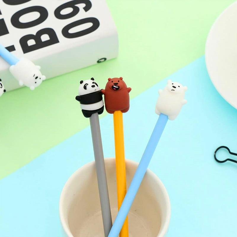 Мультфильм довольно панда симпатичный медведь гелевая ручка Kawaii нейтральные ручки 0,38 мм подписания ручка для написания школьные принадлеж...
