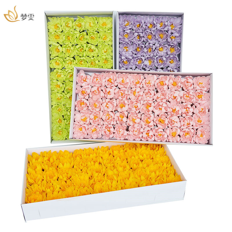 50pcs/Box Asters Soap Flower Head Soap Base For Home Wedding Party Decoration Ball Craft Valentine'S Day Gift