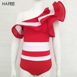 Новинка 2020, летний женский купальник в черно-белую полоску с оборками, комплект бикини из двух частей, купальник с открытыми плечами, сексуа... 5