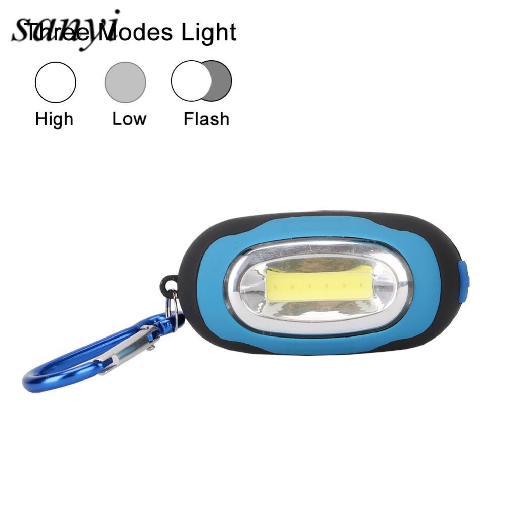 Multi-function COB Led Flashlight Portable Mini Keychain Pocket Handly Torch Light Flashlight Lamp Multicolor Mini-Torch