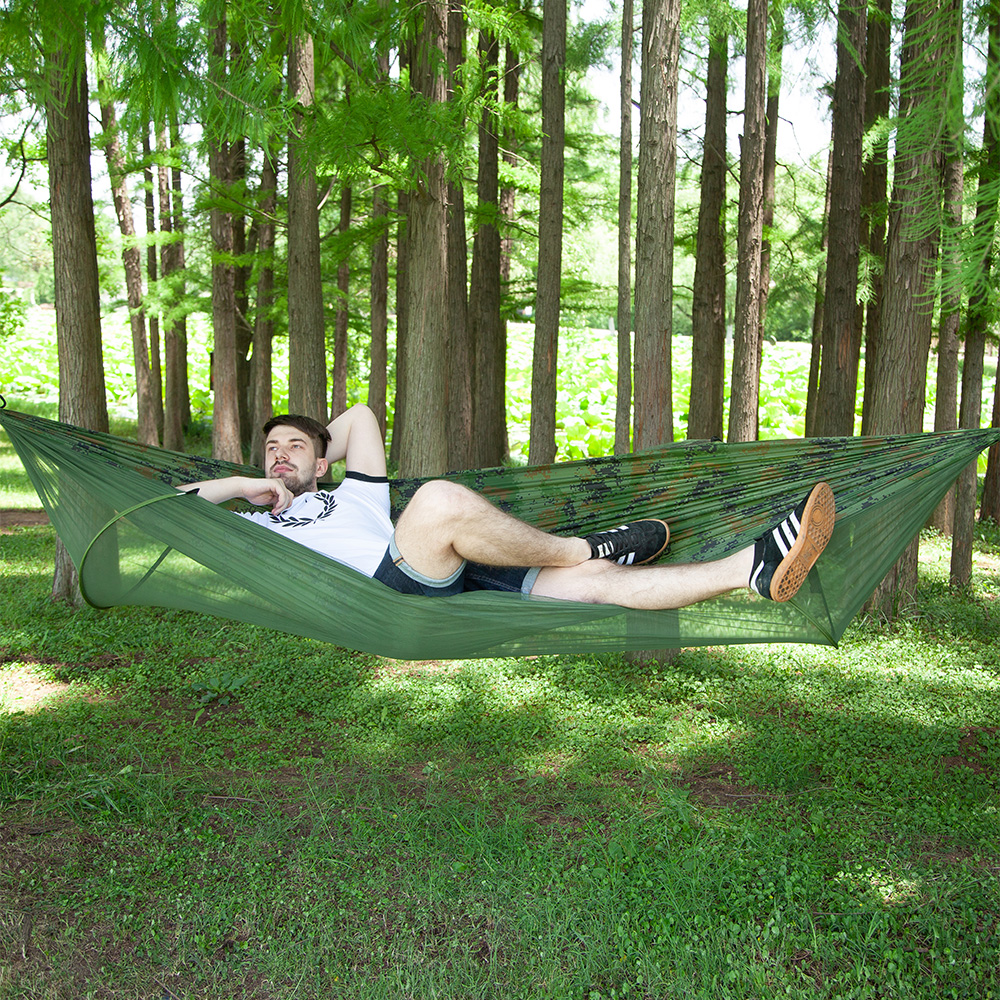 Reversible Outdoor Camping Mosquito Net Nylon Hammock Hanging Bed Sleeping Swing