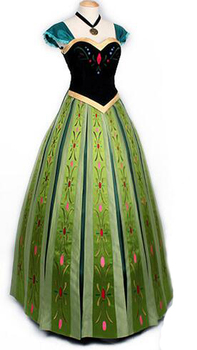 2017 Anna Coronation Dress Princess Anna Costumes Outfit Anna Cosplay Dress фото