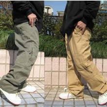 ANPOETCHY Hip Hop Dance Mens Trousers Casual Joggers Loose Baggy Cotton Zipper