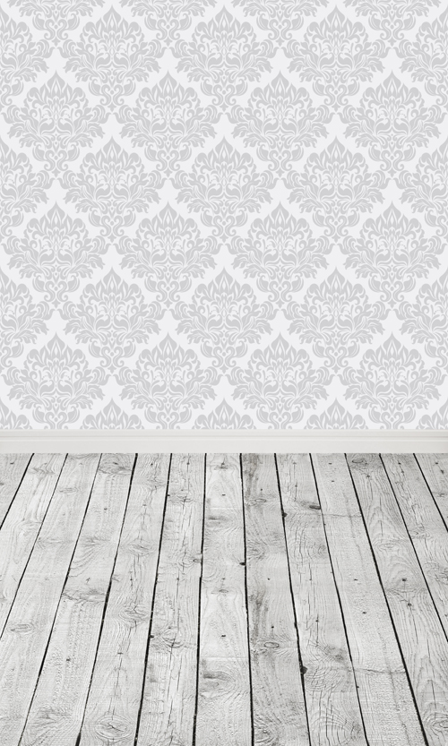 Grey Wood Plank Printed Indoor Photo Backdrops Art Fabric